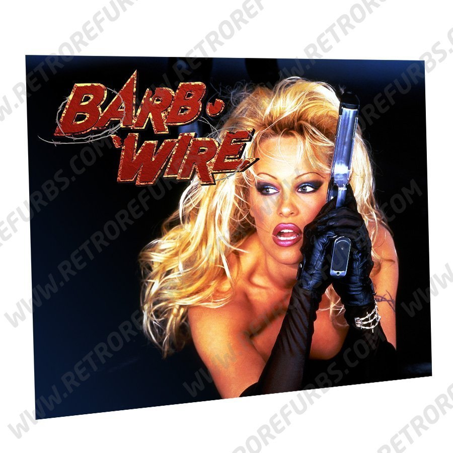 Barb Wire Pam Alternate Pinball Translite Alternative Flipper Backglass