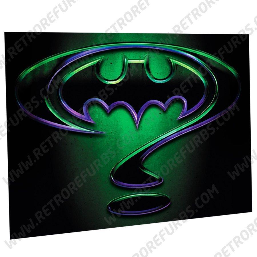 Batman Forever Enigma Alternate Pinball Translite Alternative Flipper Backglass