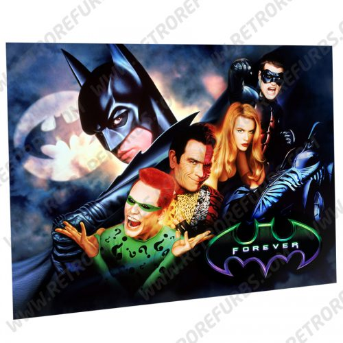 Batman Forever Movie Alternate Pinball Translite Alternative Flipper Backglass