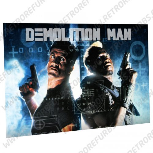 Demolition Man Action Alternate Pinball Translite Alternative Flipper Backglass