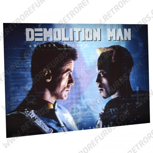 Demolition Man Showdown Alternate Pinball Translite Alternative Flipper Backglass