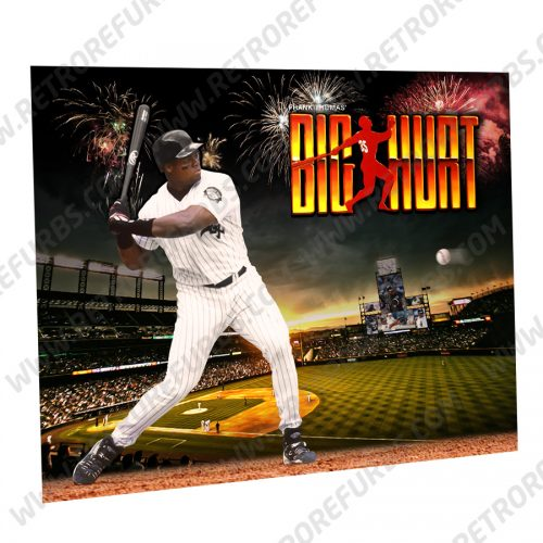 Frank Thomas Big Hurt Bat Alternate Pinball Translite Alternative Flipper Backglass