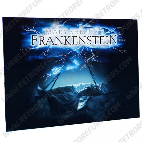 Frankenstein Lightning Alternate Pinball Translite Alternative Flipper Backglass