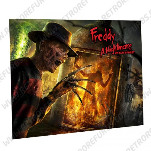 Freddy A Nightmare on Elm Street Alternate Pinball Translite Alternative Flipper Backglass