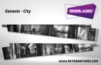 Genesis City Black & White Pinball Sideblades Inside Inner Art Decals Sideboard Art Pin Blades