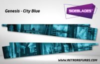 Genesis City Blue Pinball Sideblades Inside Inner Art Decals Sideboard Art Pin Blades