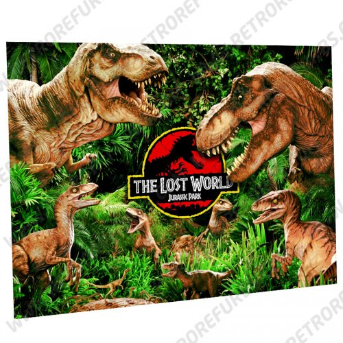 The Lost World Jurassic Park Alternate Pinball Translite Alternative Flipper Backglass