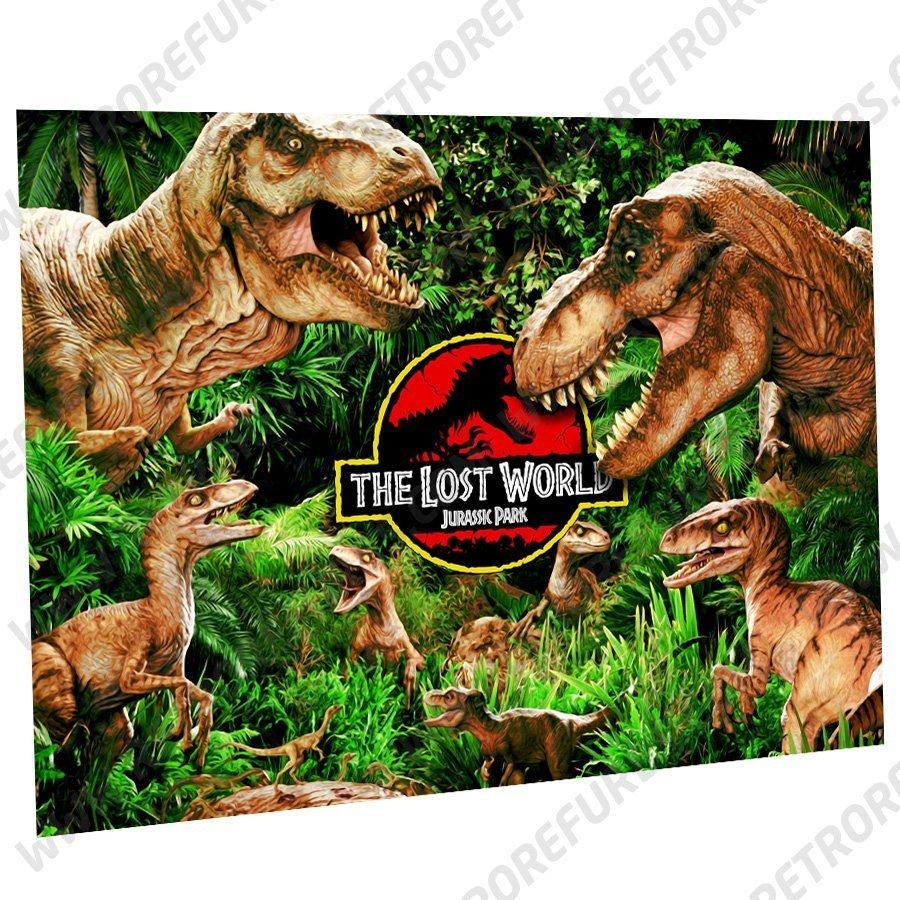 The Lost World Jurassic Park Alternate Pinball Translite Alternative Flipper Backglass