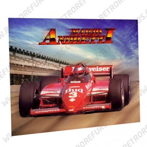 Mario Andretti Car Alternate Pinball Translite Alternative Flipper Backglass