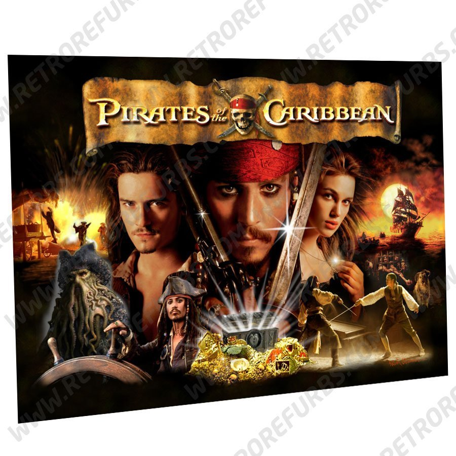 Pirates of the Caribbean Alternate Pinball Translite Alternative Flipper Backglass