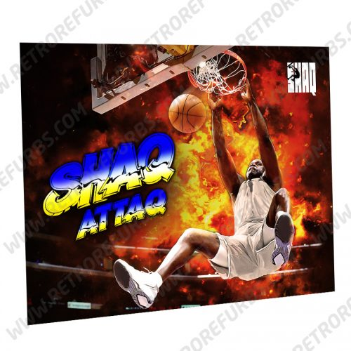 Shaq Attag Slam Dunk Alternate Pinball Translite Alternative Flipper Backglass