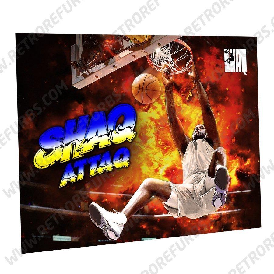 Shaq Attag Slam Dunk Alternate Pinball Translite Alternative Flipper Backglass