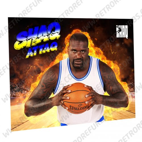Shaq Attaq Spalding Alternate Pinball Translite Alternative Flipper Backglass