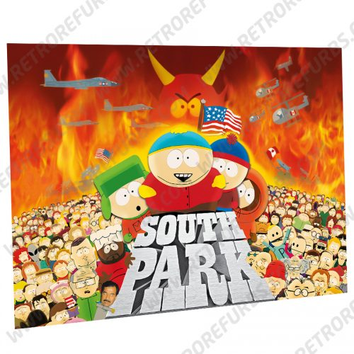South Park Movie Alternate Pinball Translite Alternative Flipper Backglass