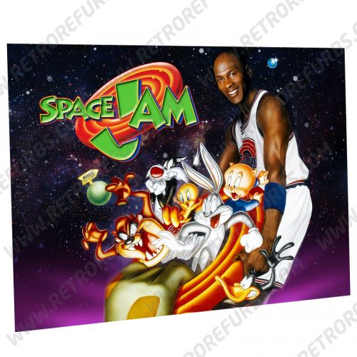 Space Jam Characters Alternate Pinball Translite Alternative Flipper Backglass