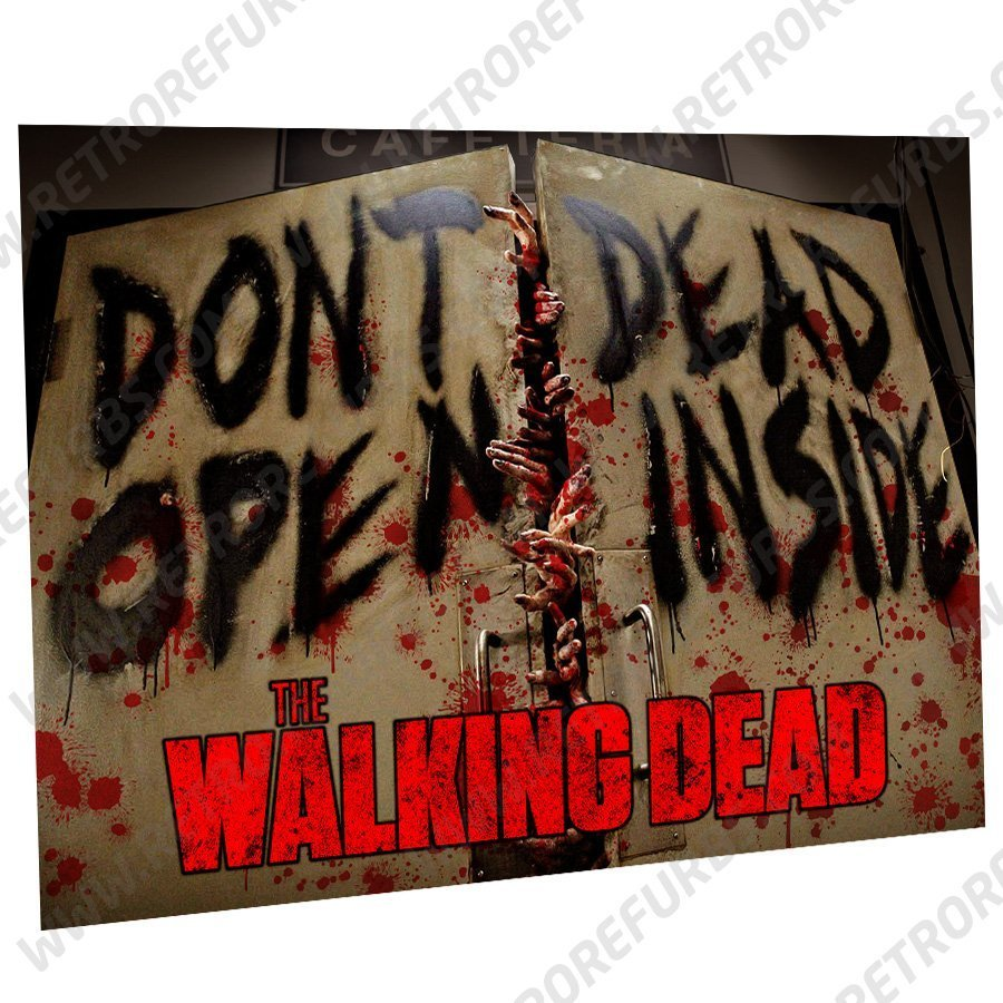 The Walking Dead Dont Open Alternate Pinball Translite Alternative Flipper Backglass