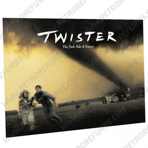 Twister Movie Alternate Pinball Translite Alternative Flipper Backglass