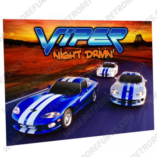 Viper Night Drivin Cruise Alternate Pinball Translite Alternative Flipper Backglass