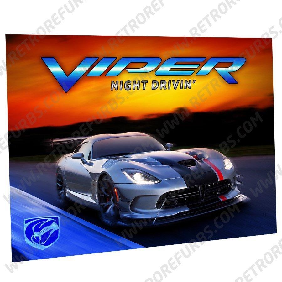 Viper Night Drivin New Model Alternate Pinball Translite Alternative Flipper Backglass