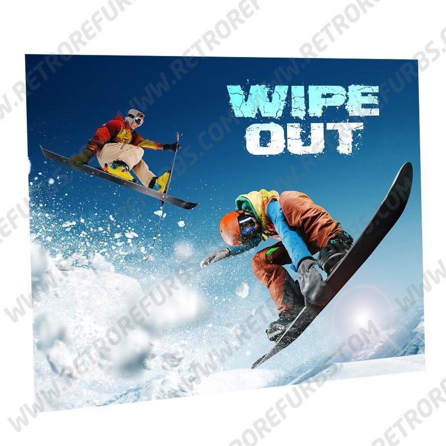 Wipe Out Snowboarding Alternate Pinball Translite Alternative Flipper Backglass