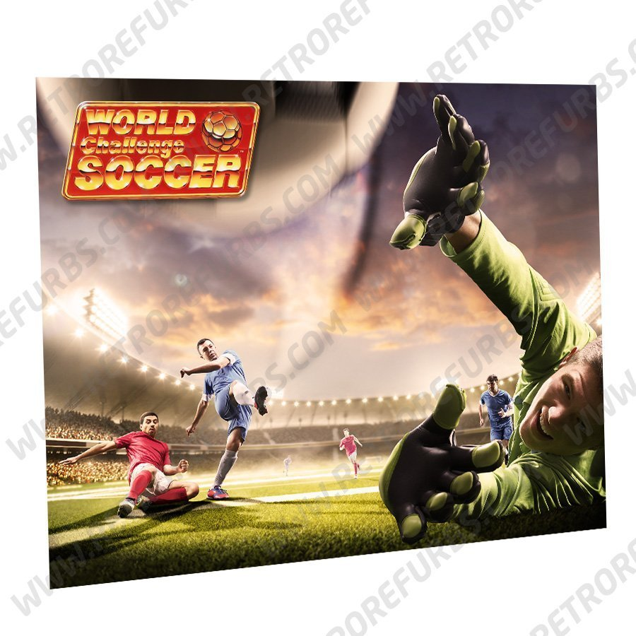 World Challenge Soccer Goal Alternate Pinball Translite Alternative Flipper Backglass