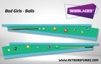 Bad Girls Balls Pinball Sideblades Inside Inner Art Decals Sideboard Art Pin Blades