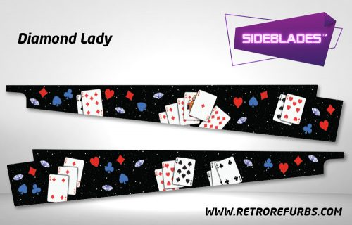 Diamond Lady Pinball Sideblades Inside Inner Art Decals Sideboard Art Pin Blades