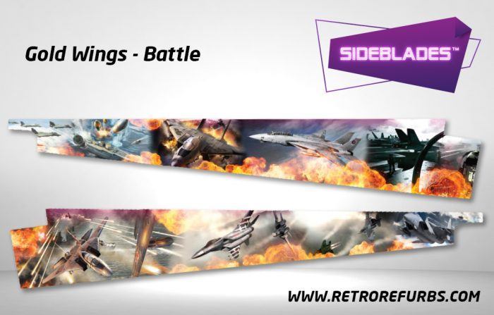 Gold Wings Battle Pinball Sideblades Inside Inner Art Decals Sideboard Art Pin Blades