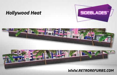 Hollywood Heat Pinball Sideblades Inside Inner Art Decals Sideboard Art Pin Blades