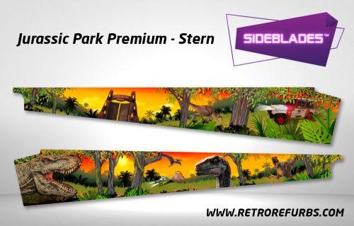 Jurassic Park Stern Premium Pinball Sideblades Inside Inner Art Decals Sideboard Art Pin Blades