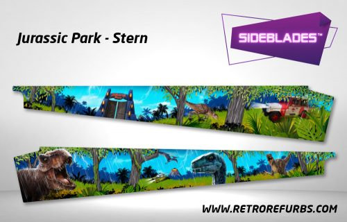 Jurassic Park Stern Pro Pinball Sideblades Inside Inner Art Decals Sideboard Art Pin Blades