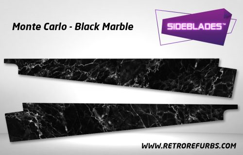 Monte Carlo Black Marble Pinball Sideblades Inside Inner Art Decals Sideboard Art Pin Blades