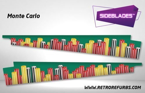 Monte Carlo Pinball Sideblades Inside Inner Art Decals Sideboard Art Pin Blades