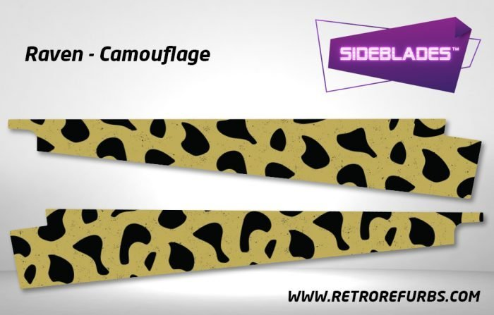 Raven Camouflage Pinball Sideblades Inside Inner Art Decals Sideboard Art Pin Blades