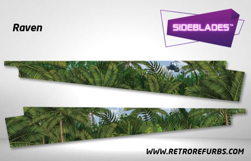 Raven Pinball Sideblades Inside Inner Art Decals Sideboard Art Pin Blades