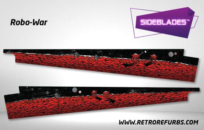 Robo War Pinball Sideblades Inside Inner Art Decals Sideboard Art Pin Blades