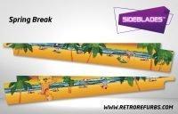 Spring Break Pinball Sideblades Inside Inner Art Decals Sideboard Art Pin Blades