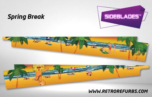 Spring Break Pinball Sideblades Inside Inner Art Decals Sideboard Art Pin Blades