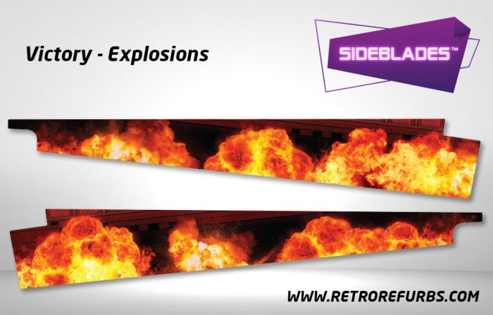 Victory Explosions Pinball Sideblades Inside Inner Art Decals Sideboard Art Pin Blades