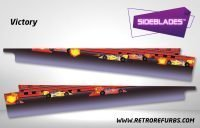 Victory Pinball Sideblades Inside Inner Art Decals Sideboard Art Pin Blades