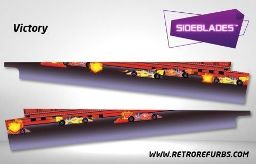 Victory Pinball Sideblades Inside Inner Art Decals Sideboard Art Pin Blades