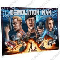 Demolition Man Hand Drawn Alternate Pinball Translite Backglass Flipper Display