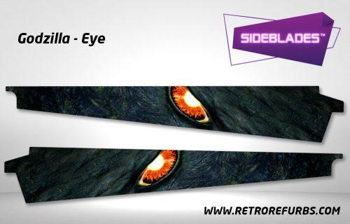 Godzilla Eye Alternate Pinball Sideblades Inside Inner Art Decals Sideboard Art Pin Blades
