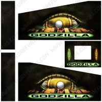 Godzilla Pinball Cabinet Decals Flipper Side Art
