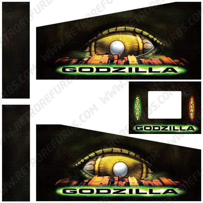 Godzilla Pinball Cabinet Decals Flipper Side Art