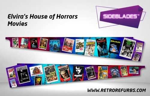 Elvira's House of Horrors - Movies Pinball Sideblades Inside Inner Art Decals Sideboard Art Pin Blades