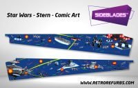 Stern Star Wars Comic Art Pinball Sideblades Inside Inner Art Decals Sideboard Art Pin Blades