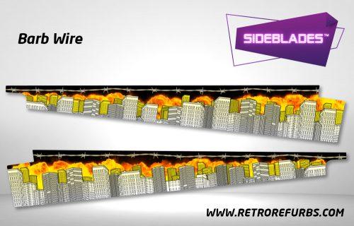 Barb Wire Pinball Sideblades Inside Inner Art Decals Sideboard Art Pin Blades