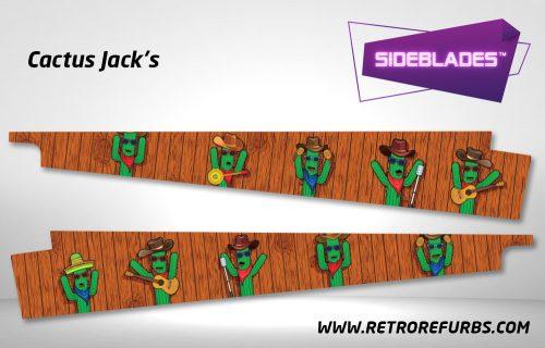 Cactus Jack's Pinball Sideblades Inside Inner Art Decals Sideboard Art Pin Blades