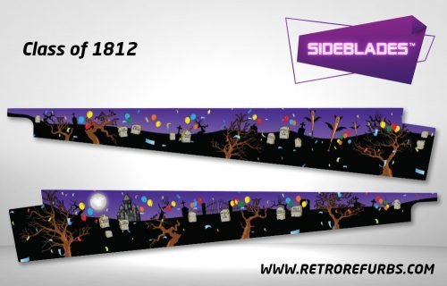 Class of 1812 Pinball Sideblades Inside Inner Art Decals Sideboard Art Pin Blades